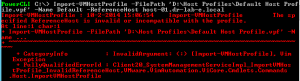 PowerCli Basics - Import Host Profile 2