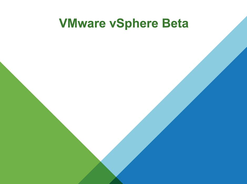 vSphere Beta