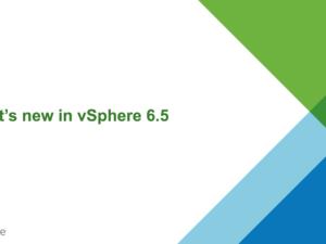 vSphere 6.5